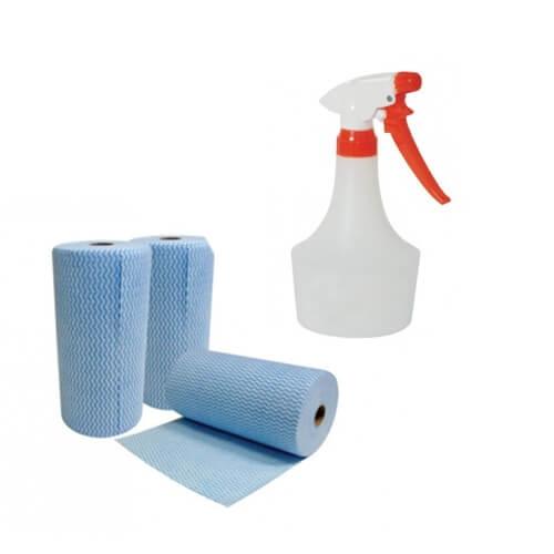 Spray Bottles & Wipes