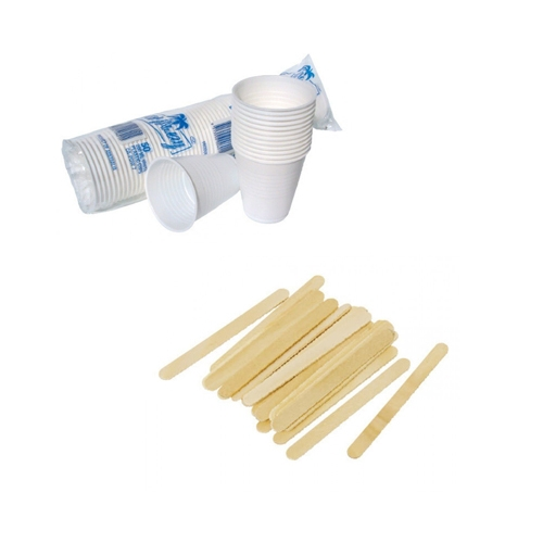 Disposable Cups & Wooden Stirrers