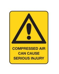 Compressed Air Can Cause Serious Injury Sign