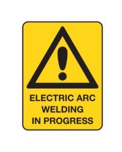 Warning Sign Electric Arc Welding In Progress