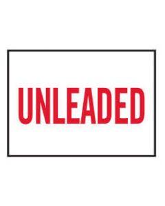 Machinery Safety Sticker - UNLEADED 120x160mm