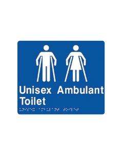 Unisex Ambulant Toilet - Braille Door Sign 180 x 210 mm