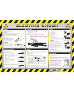 Sign Poster - Electric Shock 600 x 320mm