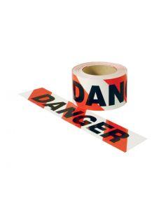 Extra Heavy Duty Hazard Tape - Red/White - Danger