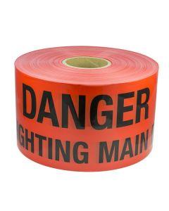 Mains Marker Tape Non-Detectable Red (Danger Firefighting Main)