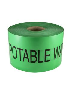 Mains Marker Tape Non-Detectable Green (Potable Water Main)