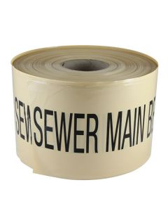 Mains Marker Tape Non-Detectable Beige (Sewer Main)