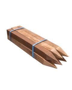 Unpainted Hardwood Dumpy Peg 50 x 50 x 600mm