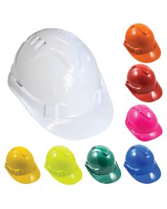V6 Premium Vented Hard Hat with Push Lock Harness