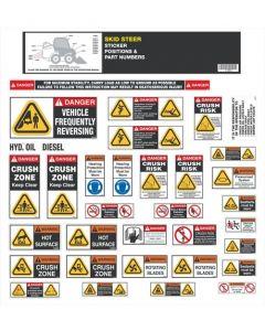 Skid Steer Safety Sticker Set
