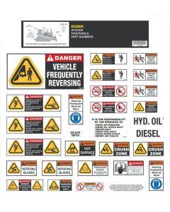 Dozer Safety Stickers Sets