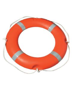 Hi-Vis Life Ring With Reflective Stripes and Rope