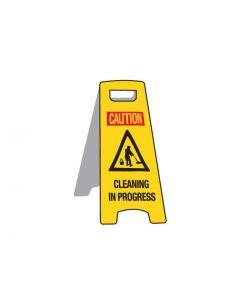 Deluxe Floor Stand Sign - Cleaning In Progress 670mm