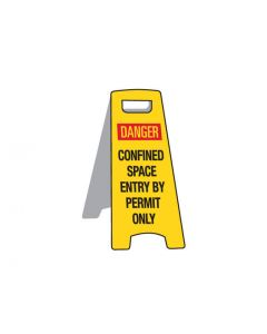 Deluxe Floor Stand Sign - Confined Space 670mm