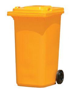 Wheelie Bin Yellow Garbage Bin