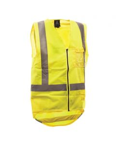 Yellow Zipped safety vest