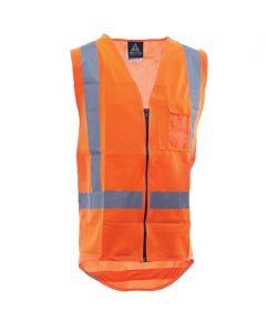 Zipped safety vest