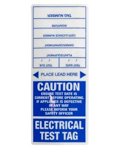 Appliance Test Tag Appliance Tags - Blue