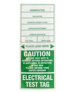 Appliance Test Tag Appliance Tags Green