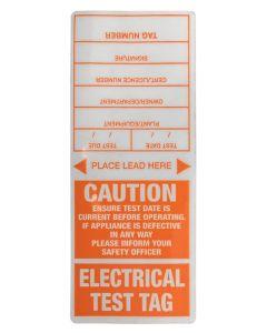 Appliance Test Tag Appliance Tags - Orange