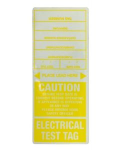 Appliance Test Tag Appliance Tags - Yellow