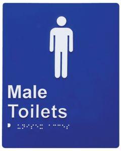 Door Braille Sign - Male Toilet (Blue)