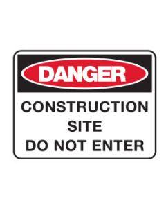 Danger Sign - DANGER CONSTRUCTION SITE
