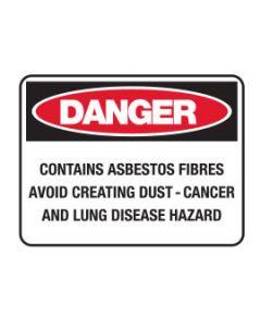 Danger Sign - DANGER CONTAINS ASBESTOS FIBRES
