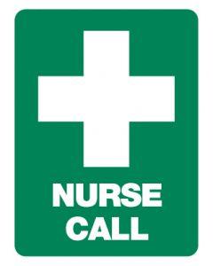 First Aid Emergency Sign - Nurse Call 600 x 450mm Poly