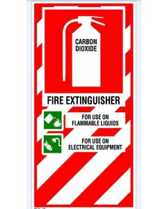 Fire Sign Fire Extinguisher - Carbon Dioxide 200 x 400mm