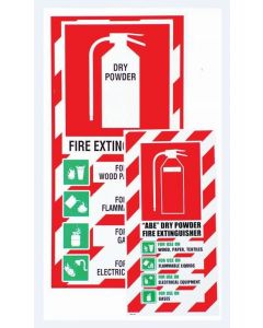 Fire Sign Fire Extinguisher - Dry Powder 200 x 400mm
