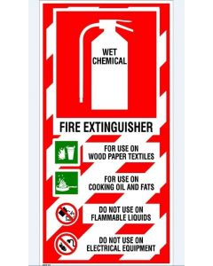 Fire Sign Fire Extinguisher - Wet Chemical 200 x 400mm