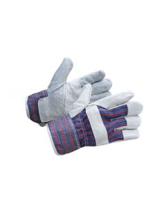 Labourer Gloves Spilt Leather Candy Back