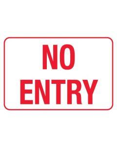 Information Sign - No Exit 600 x 450mm Metal