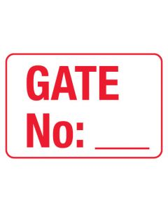 Information Sign - Gate No: _ 600 x 450mm Poly
