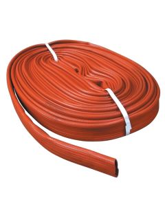 """Red PVC Layflat hose, 65 mm ID / 2.5"""" ID. Sold in custom lengths by the metre."""