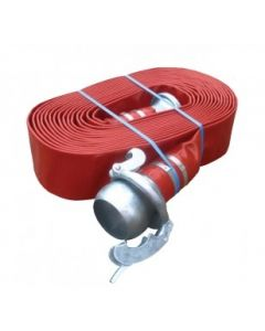 Red layflat hose kit with Bauer fittings