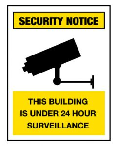Security Notice Sign - This Building 600 x 450 mm Poly