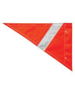 Safety Flag - Triangular Orange With Reflective Tape
