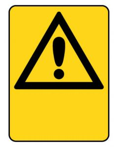 Warning Sign - EXCLAMATION TRIANGLE BLANK