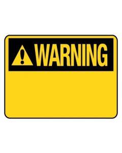 Warning Sign Blank