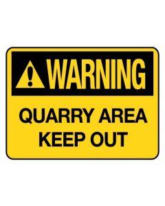Warning Sign - Warning Quarry Area Keep 600 x 450 mm Coreflute
