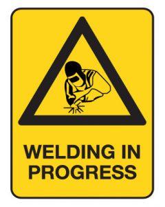 Warning Sign - Welding In Progress 600 x 450 mm Poly