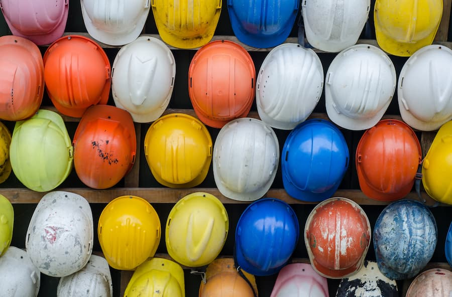 Types of safety helmets