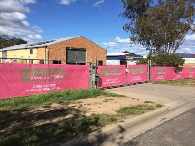 Premium fence mesh for Mudgee crane company