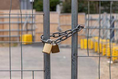 When does it become more cost-effective to buy temporary fencing over hiring?